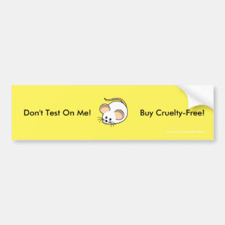 """""""Cruelty-Free Mouse"""" Bumper Sticker"""