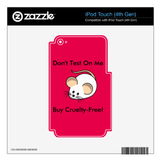 """Cruelty-Free Mouse"" Decal For iPod Touch 4G"