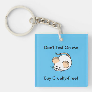 """""""Cruelty-Free Mouse"""" Keychain"""