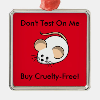 """Cruelty-Free Mouse"" Metal Ornament"