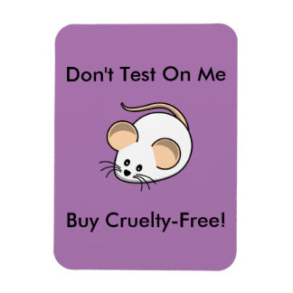 """""""Cruelty-Free Mouse"""" Rectangular Photo Magnet"""