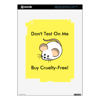 """""""Cruelty-Free Mouse"""" Skin For iPad 3"""