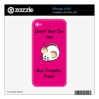 """""""Cruelty-Free Mouse"""" Skin For iPhone 4"""