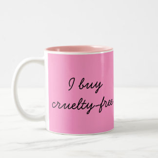 """Cruelty-Free"" Two-Tone Mug"