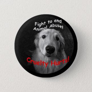 Cruelty Hurts Button