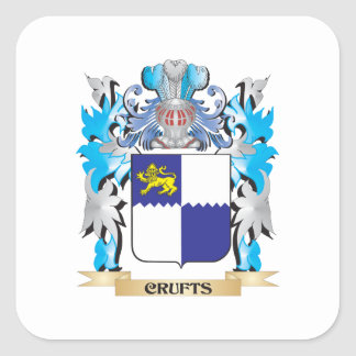 Crufts Coat of Arms - Family Crest Sticker