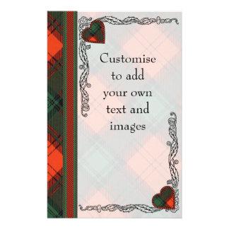 Cruickshank clan Plaid Scottish kilt tartan Flyer