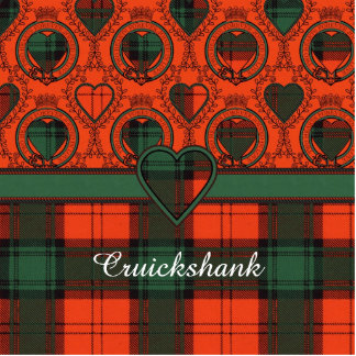 Cruickshank clan Plaid Scottish kilt tartan Statuette