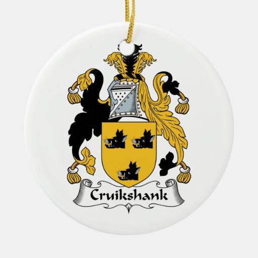 Cruikshank Family Crest Double-Sided Ceramic Round Christmas Ornament