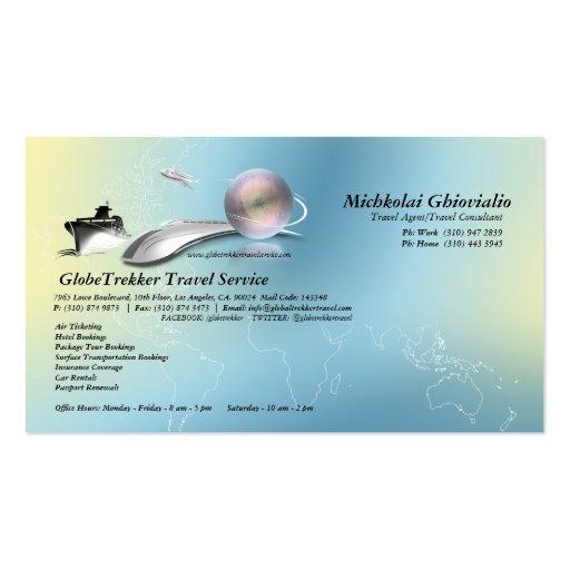 Cruise Aeroplane Train Travel Agency Business Card
