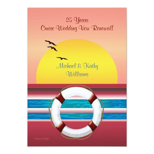 Cruise Anniversary Vow Renewal - Sunset Invite