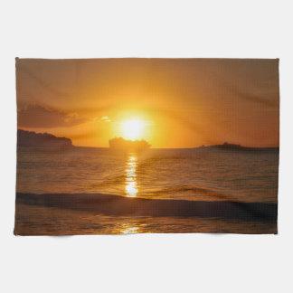 Cruise at sunset towel