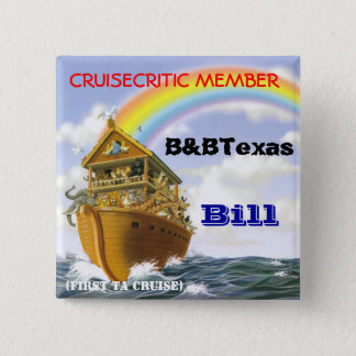 Cruise badge pinback button