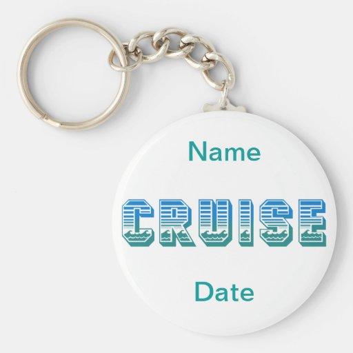 Cruise Basic Round Button Keychain