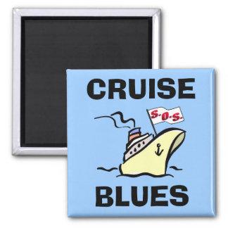 Cruise Blues - Carnival Splendor 2 Inch Square Magnet