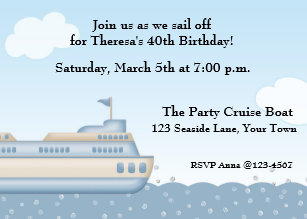 cruise birthday invitations zazzle
