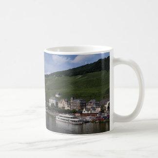 Cruise boat on Mosel River, Bernkastel Kues, Germa Coffee Mug