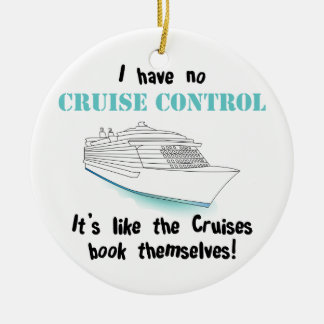 Cruise Control Double-Sided Ceramic Round Christmas Ornament