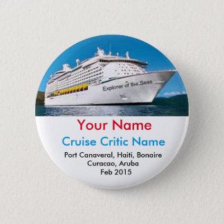 Cruise Critic Name Badge Button
