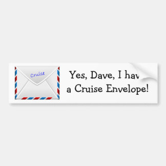 Cruise Envelope Bumper Sticker