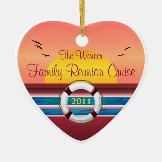 Cruise Family Reunion - Sunset  Template Ceramic Ornament