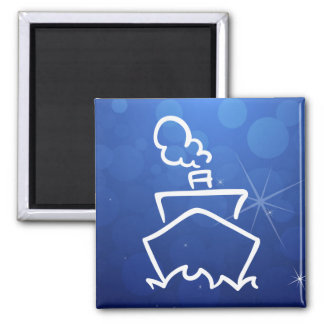 Cruise Forwards Pictogram 2 Inch Square Magnet