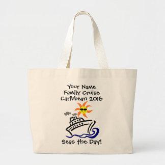 Cruise Jumbo Tote Bag - Seas the Day!