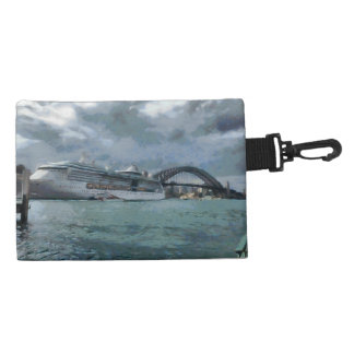Cruise liner and sydney harbour bridge accessory bag