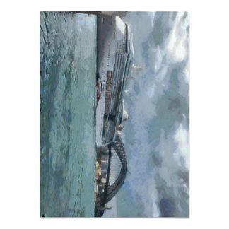 Cruise liner and Sydney Harbour bridge 4.5x6.25 Paper Invitation Card