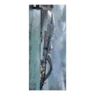 Cruise liner and Sydney Harbour bridge 4x9.25 Paper Invitation Card