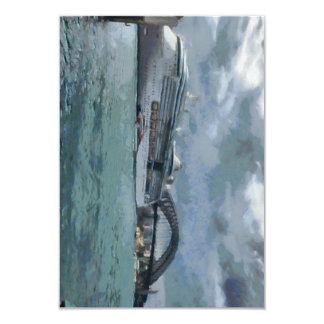 Cruise liner and Sydney Harbour bridge 3.5x5 Paper Invitation Card