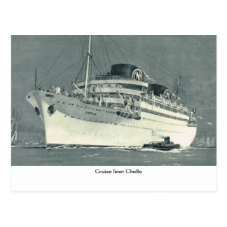 Cruise liner Chelle Postcard