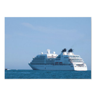 Cruise liner 5x7 paper invitation card