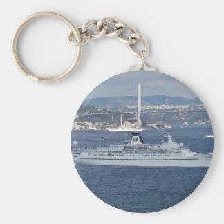 Cruise Liner Ocean Monarch Keychain