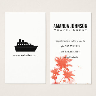 Cruise Liner / Travel Agent Business Card