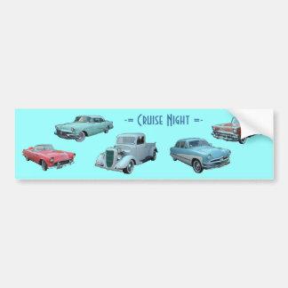 CRUISE NIGHT bumper sticker