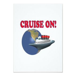 Cruise On 5x7 Paper Invitation Card