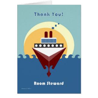 Cruise - Room Steward - Thank you Greeting Card