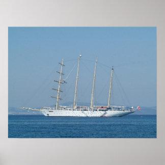 Cruise Sailing Boat Poster