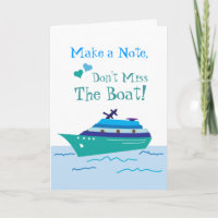 Cruise Save the Date Wedding Cards