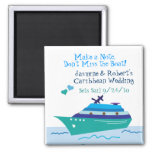 Cruise Save the Date Wedding Magnet