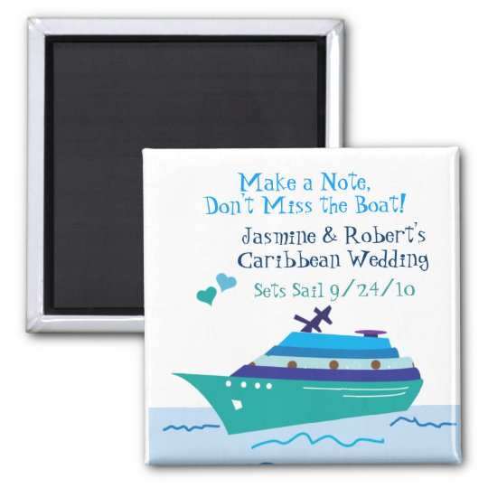 Cruise Save the Date Wedding Magnet | Zazzle