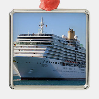 Cruise ship 16 metal ornament