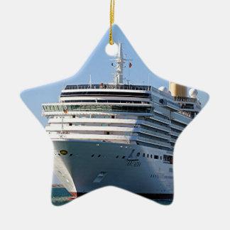 Cruise ship 17 ceramic ornament