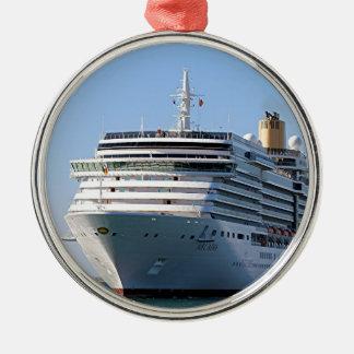 Cruise ship 17 metal ornament