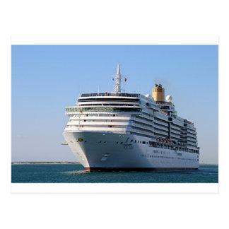 Cruise ship 17 postcard