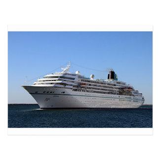 Cruise ship 20 post card