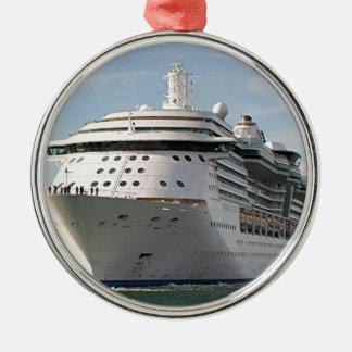 Cruise ship 4 metal ornament