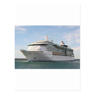 Cruise ship 5 postcard