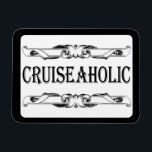 "Cruise Ship Addict Stateroom Cabin Door Sign Magnet<br><div class=""desc"">So you love to cruise and admit that you are a cruiseaholic. Why not display your cruise ship addiction proudly on your stateroom cabin door with this cruise ship magnet. Classic and vintage black and white style adds a touch of class.</div>"